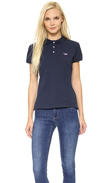 Maison Kitsune Tri Color Patch Polo