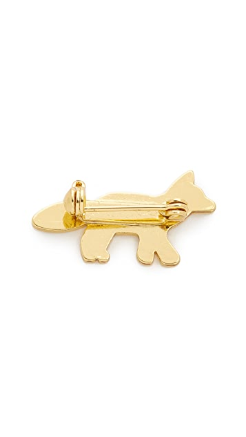 Maison Kitsune Fox Brooch