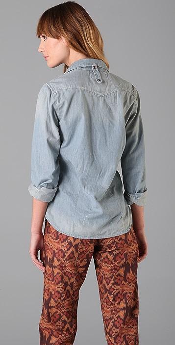 Scotch & Soda/Maison Scotch Long Sleeve Chambray Shirt