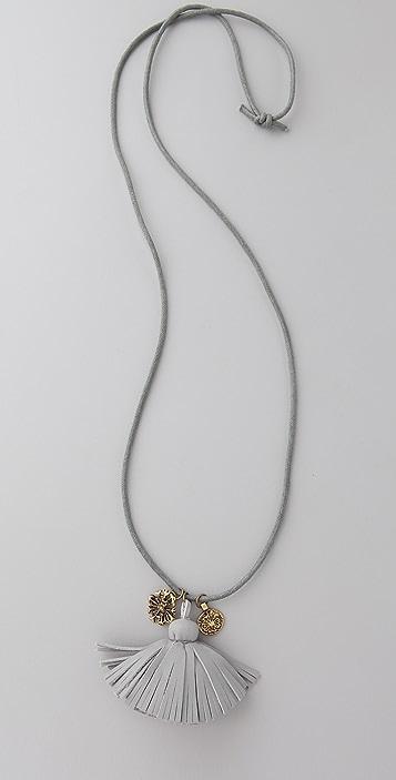 Scotch & Soda/Maison Scotch Leather Tassel Necklace