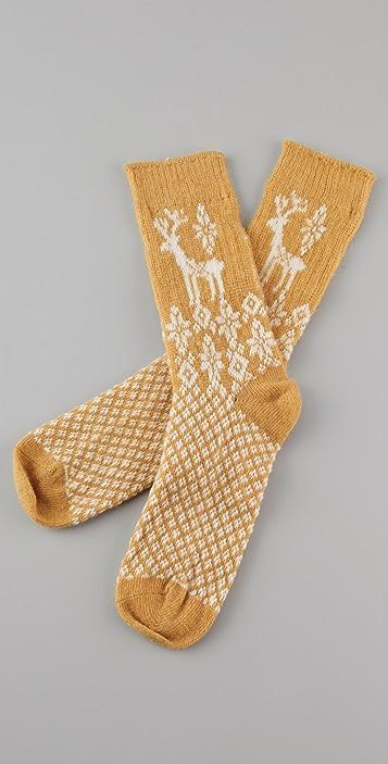 Scotch & Soda/Maison Scotch Deer Print Cozy Socks