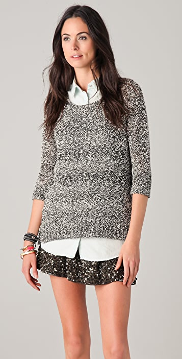 Scotch & Soda/Maison Scotch Boxy Fit Crew Neck Sweater