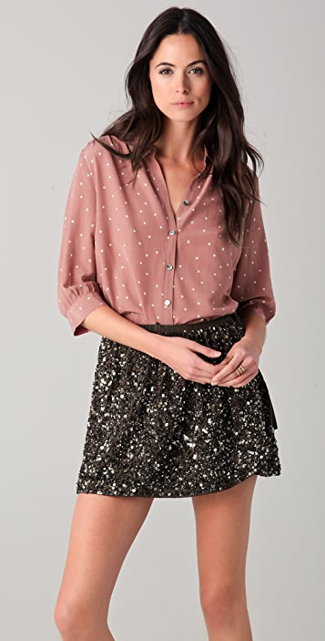 Scotch & Soda/Maison Scotch Print Silk Blouse