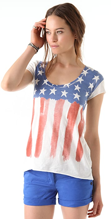 Scotch & Soda/Maison Scotch Flag Tee