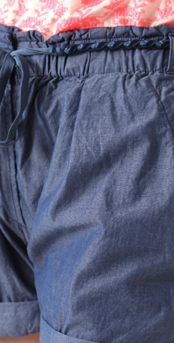 Scotch & Soda/Maison Scotch Belted Chambray Shorts
