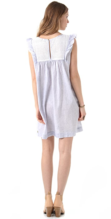 Scotch & Soda/Maison Scotch Summer Crepe & Eyelet Dress