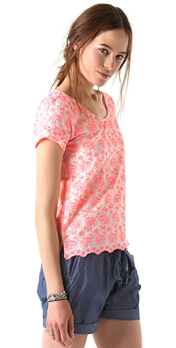 Scotch & Soda/Maison Scotch Fluoro Embroidered Top