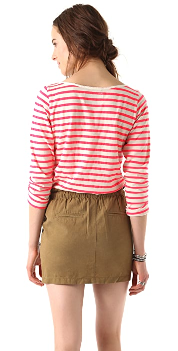Scotch & Soda/Maison Scotch Neon Breton Stripe Top