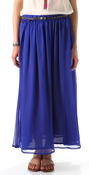 Scotch & Soda/Maison Scotch Chiffon Maxi Skirt