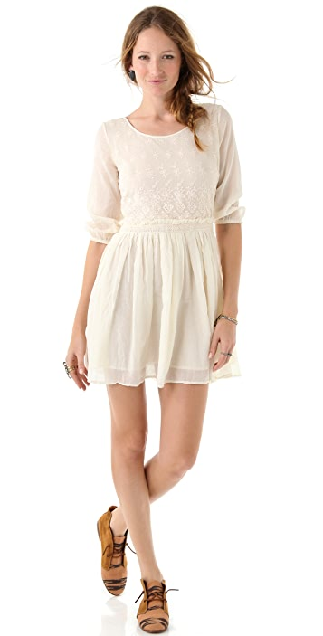 Scotch & Soda/Maison Scotch Embroidered Lace Dress