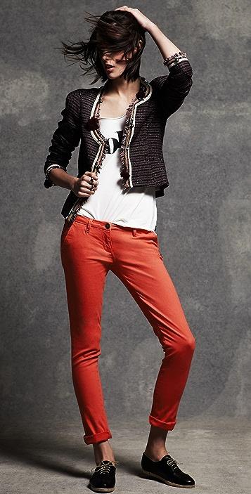 Scotch & Soda/Maison Scotch Skinny Belted Chino Pants