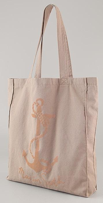 Scotch & Soda/Maison Scotch Pink Anchor Canvas Shopper