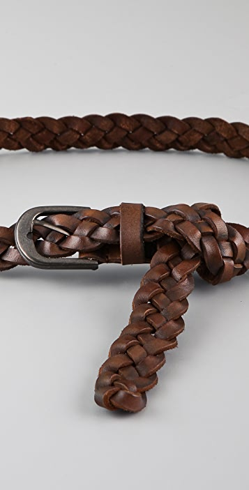 Scotch & Soda/Maison Scotch Braided Leather Belt