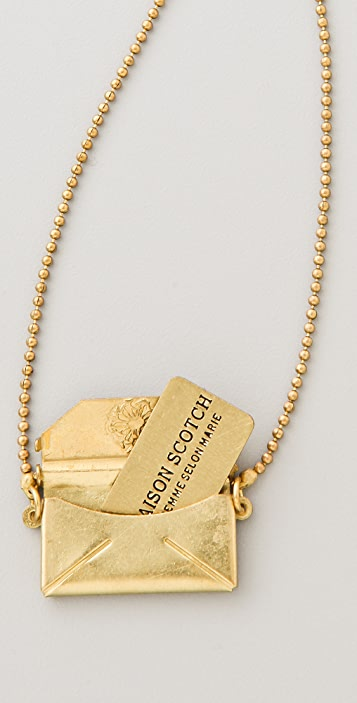 Scotch & Soda/Maison Scotch Envelope Charm Necklace