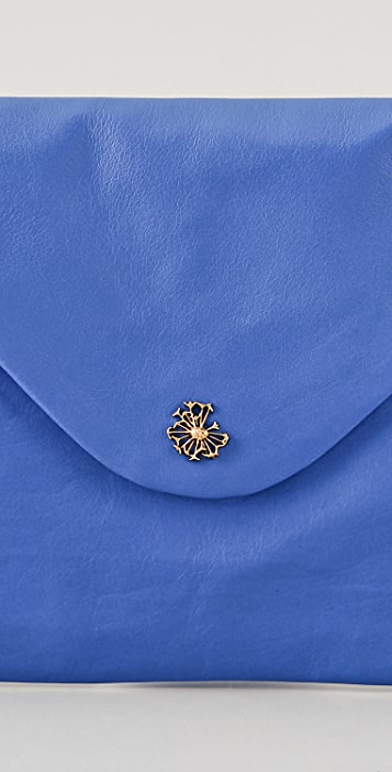 Scotch & Soda/Maison Scotch Washed Leather Envelope Clutch