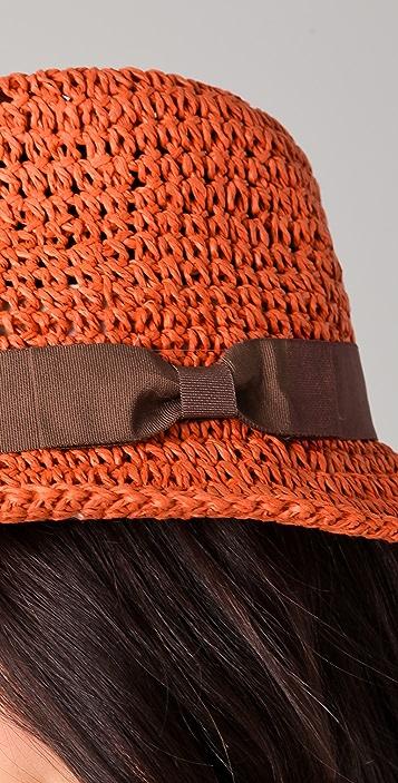 Scotch & Soda/Maison Scotch Straw Trilby Hat with Sash