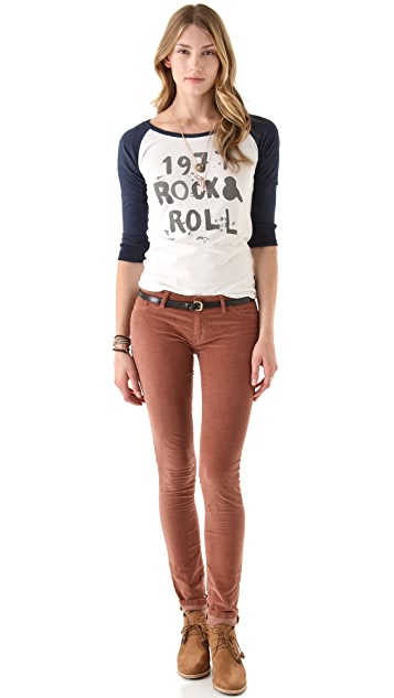 Scotch & Soda/Maison Scotch Rock & Roll Baseball Tee