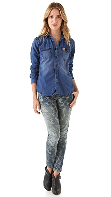 Scotch & Soda/Maison Scotch Chambray Button Down Shirt
