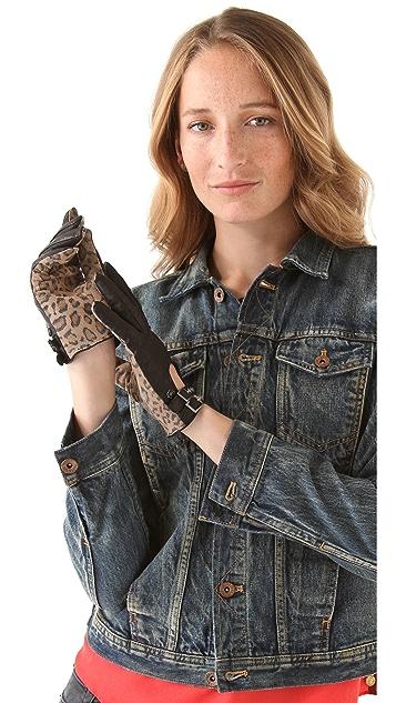 Scotch & Soda/Maison Scotch Leopard Print Gloves