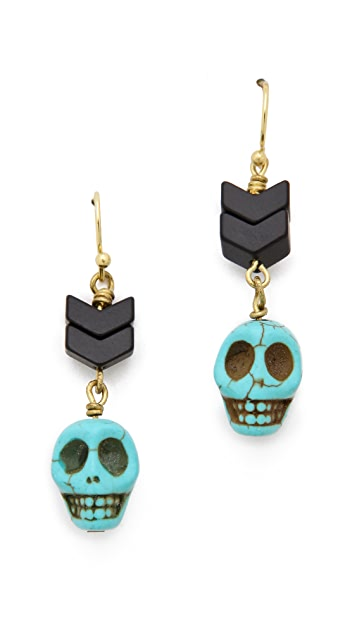 Scotch & Soda/Maison Scotch Skull Beaded Earrings
