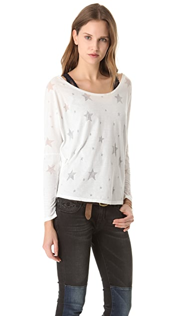 Scotch & Soda/Maison Scotch Lace Tank Burnout Tee