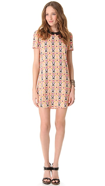 Scotch & Soda/Maison Scotch Printed Dress with Puffed Sleeves