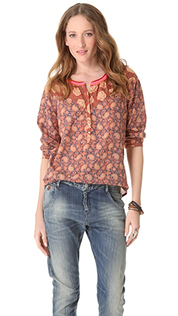 Scotch & Soda/Maison Scotch Retro Printed A Line Top
