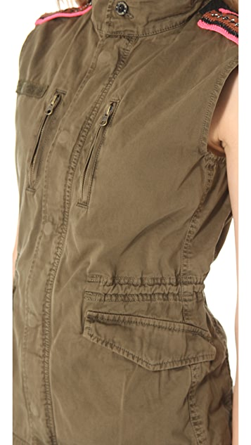 Scotch & Soda/Maison Scotch Sleeveless Military Jacket