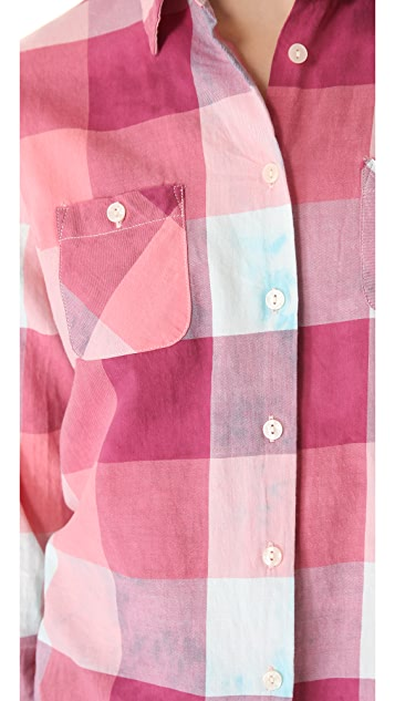 Scotch & Soda/Maison Scotch Check Button Down Shirt