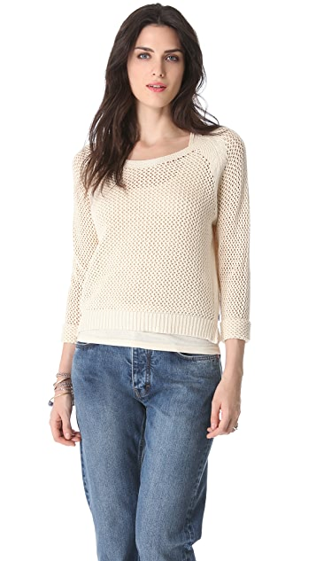 Scotch & Soda/Maison Scotch Mesh Sweater with Tank Lining