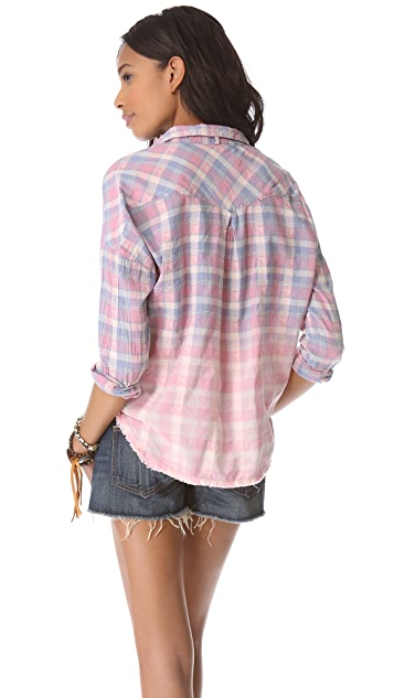 Scotch & Soda/Maison Scotch Check Shirt with Tassel