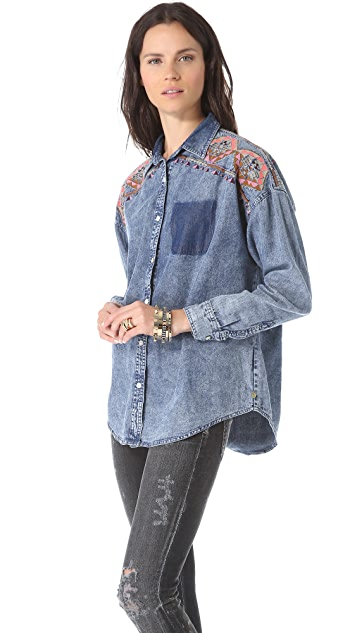 Scotch & Soda/Maison Scotch Oversized Boyfriend Shirt
