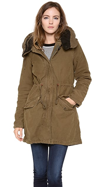 Scotch & Soda/Maison Scotch Cotton Parka with Hood