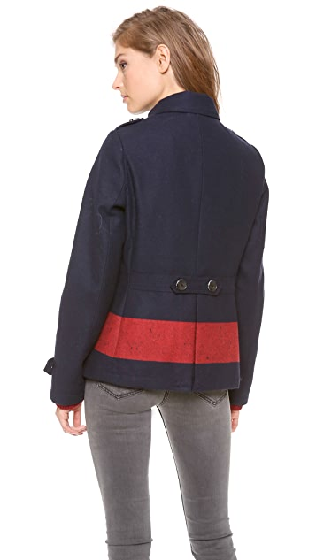 b098cc2f79866 Scotch   Soda Maison Scotch Colorblock Stripe Pea Coat   SHOPBOP