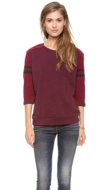Scotch & Soda/Maison Scotch 3/4 Sleeve Baseball Sweatshirt
