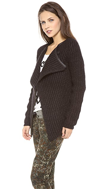 Scotch & Soda/Maison Scotch Biker Wrap Cardigan