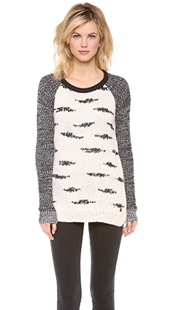 Scotch & Soda/Maison Scotch Black and White Zebra Knit Sweater