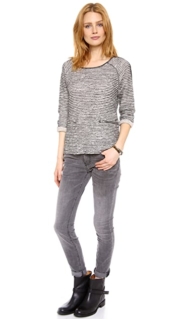 Scotch & Soda/Maison Scotch Party Biker Sweater
