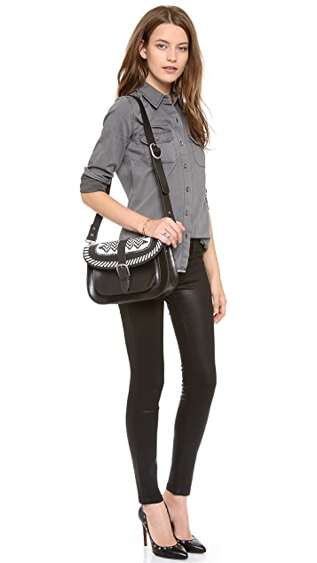 Scotch & Soda/Maison Scotch Leather Cross Body Bag