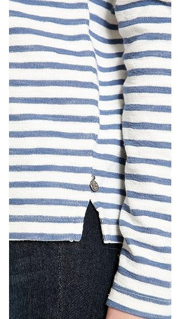 Scotch & Soda/Maison Scotch Long Sleeve Stripe Top