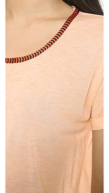Scotch & Soda/Maison Scotch Tee with Embroidered Neckline