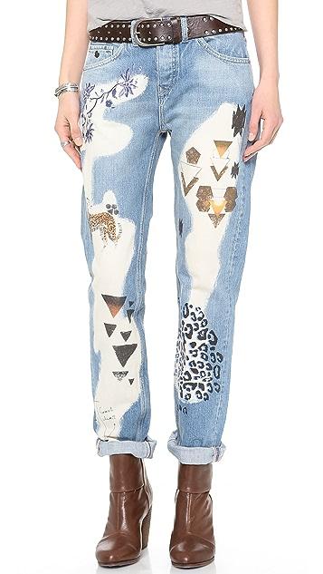 Scotch & Soda/Maison Scotch Animal Boyfriend Jeans