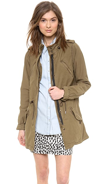 Scotch & Soda/Maison Scotch Slubby Cotton Parka