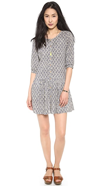 Scotch & Soda/Maison Scotch Cool Batik Block Printed Dress