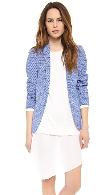 Scotch & Soda/Maison Scotch Jacquard Stretch Blazer