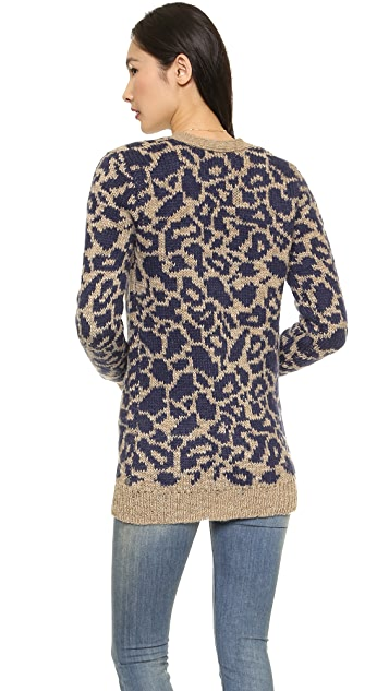 Scotch & Soda/Maison Scotch Oversized Intarsia Cardigan