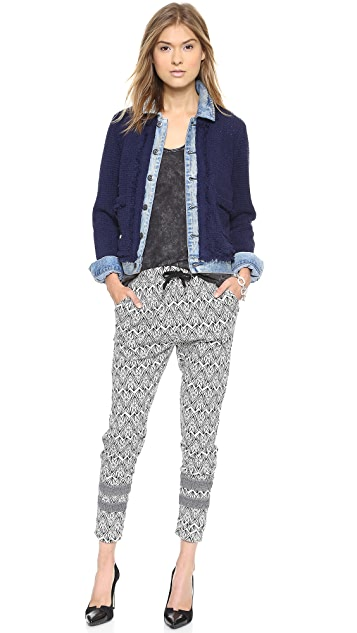 Scotch & Soda/Maison Scotch Geometric Jacquard Jogger Pants