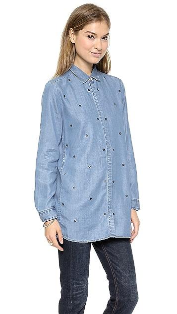 Scotch & Soda/Maison Scotch Star Studded Button Down Shirt
