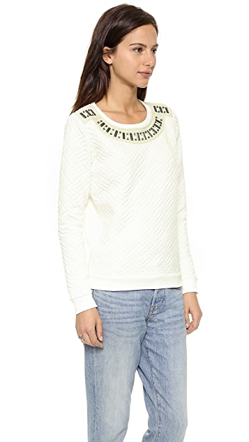Scotch & Soda/Maison Scotch Quilted Sweater with Stones