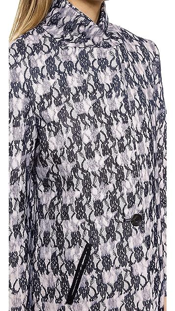 Scotch & Soda/Maison Scotch Multi Fabric Long Coat